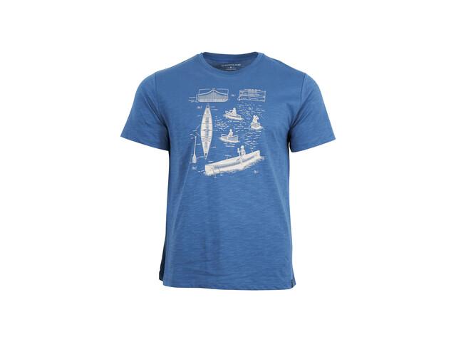 United By Blue Paddle Perspective T-shirt à motif Homme, mallard blue
